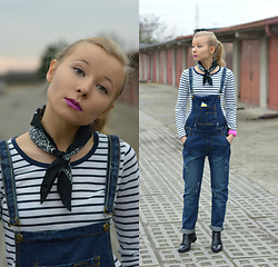 Agnes P. -  - Purple lips and denim dungarees