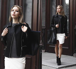 Margo Bryksina - Follow My Eyes Top, Asos Jacket, Asos Dress - S E A S O N S