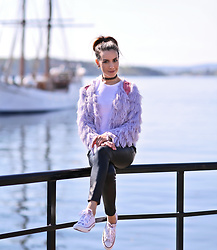 Perventina Ols - H&M Cardigan, Ag Pants, Converse Sneakers - From Oslo
