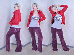 Suzi West - Old Navy Hoodie, Forever 21 Graphic Tank Top, Juicy Couture Velour Track Pants - 05 May 2016