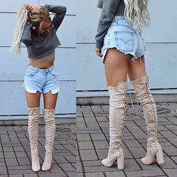 Eeva K. - Ego Over The Knee Boots - Summer heat