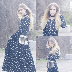 Julia Weber - Asos Maxi Dress, Zara Cross Body Handbag - Seeing Stars