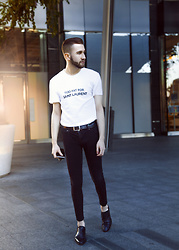 Alberto Degano - Gucci Belt, Cheap Monday Jeans, Valentino Shoes - 25.5