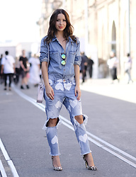 Friend in Fashion * - One Teaspoon Thrashed Heart, Ray Ban Metallic, Denim - DOUBLE DENIM