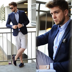 Lukasz Podlinski - Kari Boots, Top Secret Pants, Nautica Watch, Sheirt Shirt, Zerouv Sunglassess, C&A Jacket - Summer Gentleman