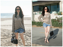 Lisa Valerie Morgan - Alice + Olivia Sweater, Chanel Bag, Abercrombie & Fitch Shorts, Rebecca Minkoff Sandals - Sparkles Before Sunset