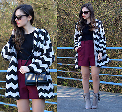 Alba . - Justfab Boots, Justfab Bag -  Chevron Monday