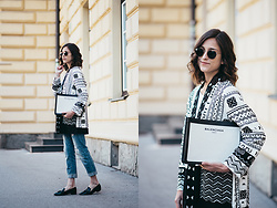 Tesa J. - H&M Jacket, Balenciaga Clutch - Beaded jacket