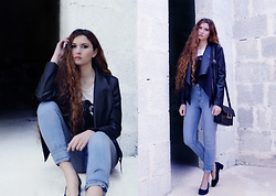 Nogynyan - Bershka Jacket, H&M Jeans, Gold&Gold Shoes - Brick by brick