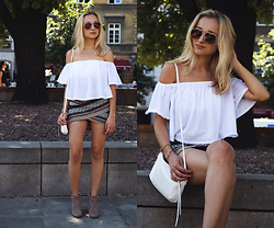 Dalena Daily - Bershka Top - WHITE BLOUSE AND AZTEC SKIRT