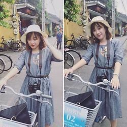 Lan Chi Vu - Huong Grey Dress, Chez Vu Enveloppe Clutch - Sunny day ^^