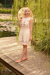 Harlow Darling - Deco Haus Dress, Bait Footwear Shoes - 1920s Peasant Dress