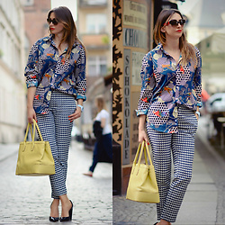 Yoschimoto - Ralph Lauren Yellow Bag, Zara Pants, Prada Sunglasses - MENS SHIRT AND PRINTS