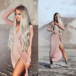 Eeva K. - Ikrush Lace Up Heels, Ikrush Maxi Dress - Desert Rose