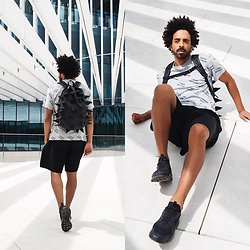 Oli Worlds - Cheap Monday Top, Givenchy Black Shorts, Nike Huarache, Madpax Backpack, Cartier Juste Un Clou - Cheap Monday [INSTAGRAM: @oliworlds]