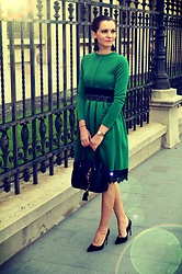 Butterfly Petty - Wholesalebuying Dress, L.Credi Bag, Zara Shoes - Green dress
