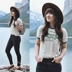 Jocelyn Jacobson - Truly Madly Deeply Ringer Tee, Minnetonka Kilty Moccasin - Be Your Own Adventure