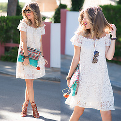 Helena Cueva - The Desire Shop Lace Dress, Outfit For Desire Clutch - Crochet Dress