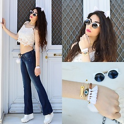 Marina Mavromati - Kristia Lazarie Bracelets, Cndirect Sunglasses, Cndirect Bag Charm/Key Chain - Summer Haze!