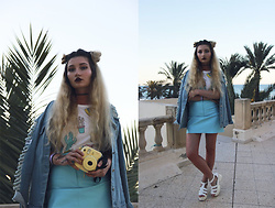 ♡Anita Kurkach♡ - Sheinside Skirt, Sheinside Top, Sheinside Jacket, Sheinside Shoes - AFRICA