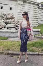 Vita K. - Asos Skirt, Sinequanon Blouse, Asos Shoes, Kate Spade Bag - Lace and roses