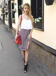 Jane D - Bershka Top, Koton Skirt - Office look for summer