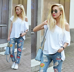 Aneta M - Jeans - PATCHED JEANS <3