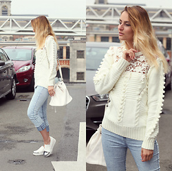 Ruxandra Ioana - Poppy Lovers Sweater, Born Pretty Store Ear Studs, Jolly Chic Platforms - Cant stop the feeling