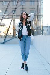 Linh Minouderie - Stradivarius Sukajan, H&M Necklace, H&M Top, New Look Pants, Zign Shoes, Zara Bag - My Sukajan
