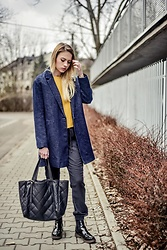 Iga Zubiel - Zara Coat, New Yorker Pants, Milli Bag Leather - Yellow