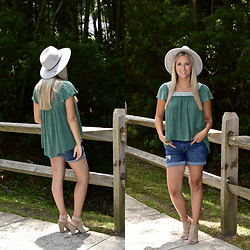 Jennifer Therese - Francesca's Wylie Embroidered Top, Forever 21 Fedora - Flowy is a Friend of Mine.