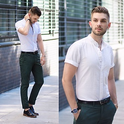 Aaron Wester - Club Monaco Seersucker Shirt, Club Monaco Chinos, Gordon Rush Brogues - Cleaned Up
