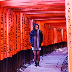 Ren Rong - H&M Coat, Lowry's Farm Shorts, Dkny Tights, Spurr Shoes - The Fushimi Inari Journey