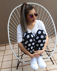 Karen Cardiel - Nike Air Force, Polka Dots Pants, Purple Shades - D O T S