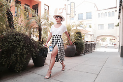 K T Reed - Ktrcollection Gingham Midi Skirt, Saint Laurent Sac De Jour, James Perse White T Shirt - Gingham.
