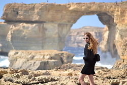 Martina Manolcheva - Zara Skirt, Chanel Bag, Bomber, Moschino Sunglasses - The Azure Window