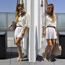 Madame Lala - Ralph Lauren White Skirt, Zara Bag - Boho white look