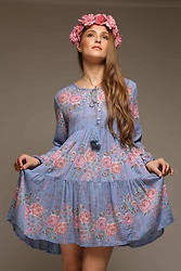 Nidhi.s - Shiflee Babydoll Dress - Back in new color...hot selling boho dress.. shop @shiflee