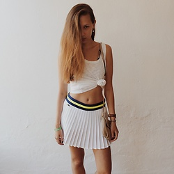 Anna Katina - Lacoste Tennis Skirt, Marc By Jacobs Bag - Ibiza #2