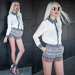 Oksana Orehhova - 7crash Blouse, 7crash Shorts, Clic,Clac Sunglasses - LET'S TALK BUSINESS