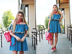 ♡Anita Kurkach♡ - Sheinside Dress, Sheinside Shoes, Sheinside Bag - OFF THE SHOULDER!