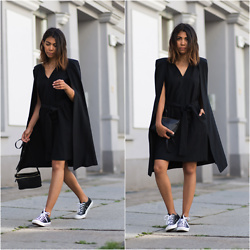 Storm West - Cmeo Collective Dress, Converse Sneaker - Cmeo collective cape dress