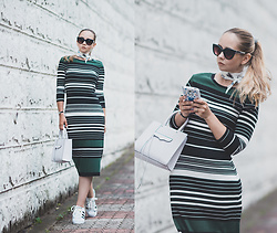 Olga Choi - Adidas Superstar, Eci Stripe Dress, Rebecca Minkoff Mab - All about stripes