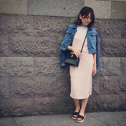 Chihiro_04.10 - Bershka Dress, Zara Shoes, Salvatore Ferragamo Vintage Bag - Dusty Pink