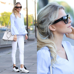 Caro Daur - Saint Laurent Bag, Prada Sunnies, Hogan Shoes, Parker Smith Jeans - Bright colours | Berlin