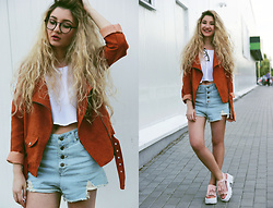 ♡Anita Kurkach♡ - Sheinside Jacket, Sheinside Shoes, Sheinside Shorts - Bob Moses – Tearing Me Up
