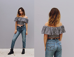 Isabella Wight - Shopbop Top, Levi's® Jeans - HOME IS WHEREVER I'M WITH YOU