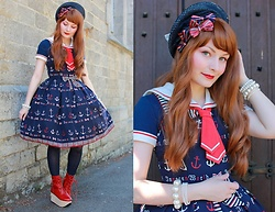 Laura Dambremont - Innocent World Jsk, Bodyline Shoes, Angelic Pretty Sailor Blouse - Under The Sea
