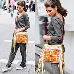 Stephanie Van Klev - Patrizia Pepe Overall, Style Heaven Boho Fringe Bag, Superga Sneakers - GLAMOROUS EVERY DAY