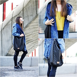 Asia M. - Denim Coat, Sack Leather Bag, Nike Air Max 2016 - Denim Coat